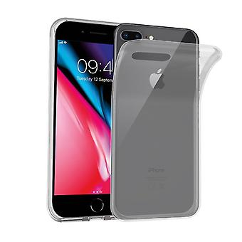 Cadorabo Case voor Apple iPhone 8 PLUS / iPhone 7 PLUS / iPhone 7S PLUS in FULL TRANSPARENT - Flexibele TPU Siliconen telefoonhoesje - Siliconen hoesje Ultra Slim Soft Back Cover Case Bumper