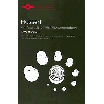 Husserl - un análisis de la fenomenología su (nueva edición) por Paul Ricoe