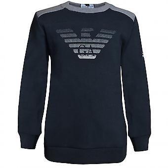 EA7 Boys EA7 Boy's Night Blue Sweatshirt
