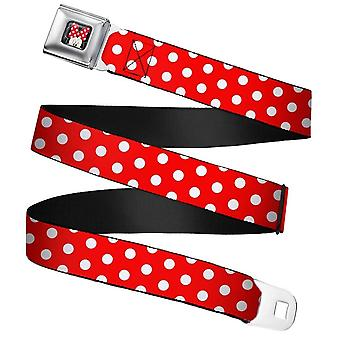 Disney Minnie Mouse Polka Dot Seatbelt Buckle Web Belt