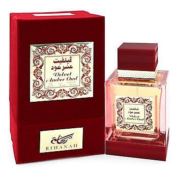 Velvet Amber Oud Eau De Parfum Spray By Rihanah 4.2 oz Eau De Parfum Spray