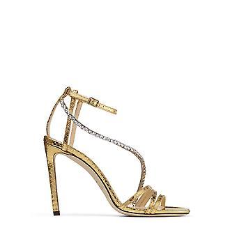 Jimmy Choo Thaiawhkgold Women's Gold Leather Sandals