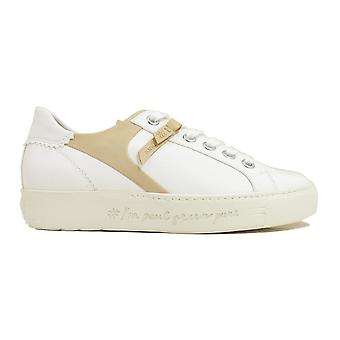 Paul Green 4968-02 White Leather Womens Lace Up Casual Trainers