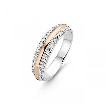 Ti Sento Flimrende lys 12144ZR - Kvinders to-tone sølv dor pink ring