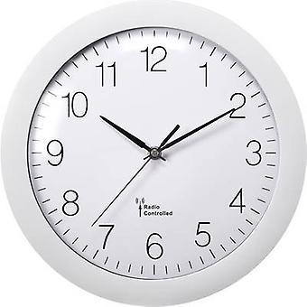 Basetech 1556547 ساعة حائط الراديو 300 مم × 56 مم أبيض