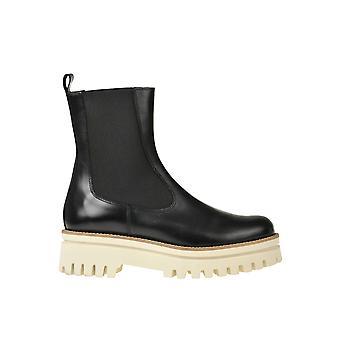 Paloma Barceló Ezgl052061 Dames's Black Leather Enkellaarsjes