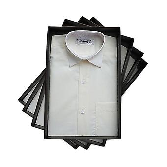 Pagina jongens lange klassieke kraag Ivory Shirt met mouwen