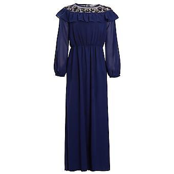 Blommig och krusidull broderad abaya klänning