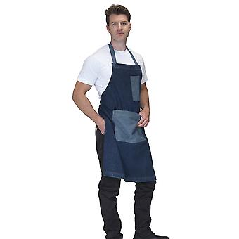 Dennys Washed Denim Contast Bib Apron