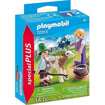 Playmobil 70155 Especial Plus Niños con Becerro