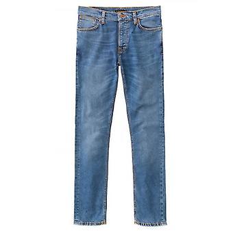 Nudie Jeans Grim Tim Mid Blue Indigo Jean