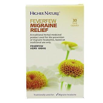 Higher Nature Feverfew Migraine Relief Capsules 30 (HEFM030T)