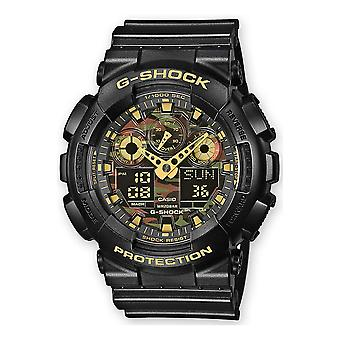 Casio G-Shock Watch GA-100CF-1A9ER - Resin Gents Quartz Analogue - Digital