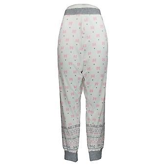 Cuddl Duds Women's Petite Pajama Pants Après Ski Fairisle White A342113