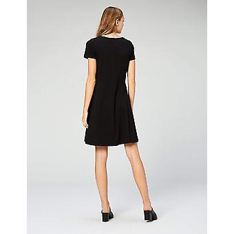 Daily Ritual Women's Pima Cotton and Modal Short-Sleeve, Black, Size X-Large