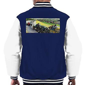 The Saturday Evening Post Vintage Race Car Peter Helck Men's Varsity Jacket