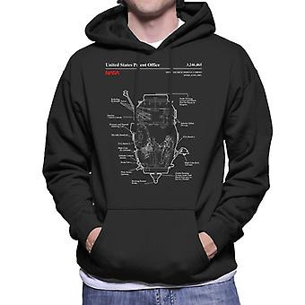 NASA Russian Mini Research Module 2 Blueprint Men's Hooded Sweatshirt