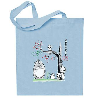Studio Ghibli Growing Trees Sumie Totoro Totebag
