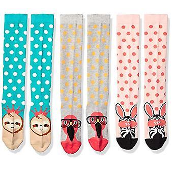 Značka - Spotted Zebra Kids' 4-pack ponožky na kolená, Safari zvieratá, veľké (3-6)