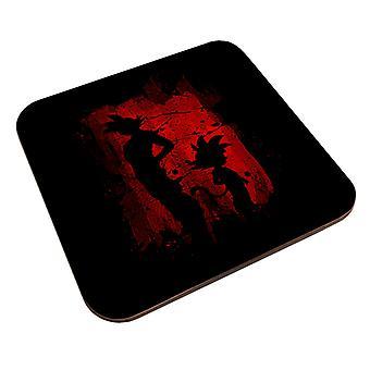 Søn Goku Sihouette Rød skygge Drage Bold Z Coaster