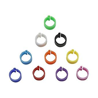 Colors Birds Feet Rings Inner Diameter 8mm Width 7mm Plastic Clip Ring Pigeon