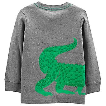 Simple Joys by Carter's Boys' Toddler 3-Pack Graphic Long-Sleeve Tees, Crocod...