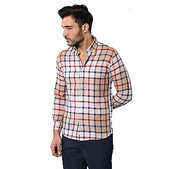 Checked light brown shirt | wessi