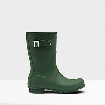 Hunter Original Short Ladies Rubber Wellington Boots Green