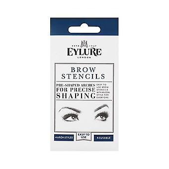 Eylure 4 Reusable Brow Stencils - Pre Shaped Arches for Precise Shaping