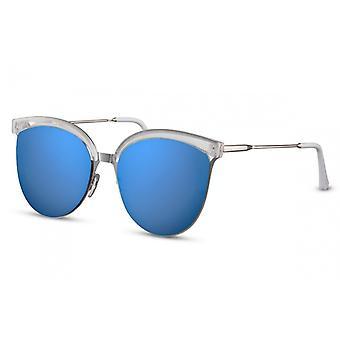 النظارات الشمسية المرأة البانتو الأزرق / الفضة (CWI1425)