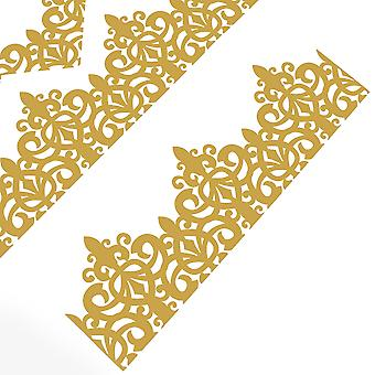 100 Gold Adjustable Filigree Paper Hats for DIY Cracker Making Crafts