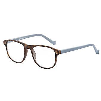 Óculos de Leitura Unisex Le-0196B Pablo força preta/marrom +1,50