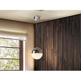 Integrated LED Globe Ceiling Pendant Chrome