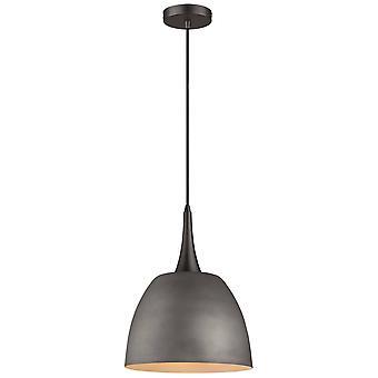 Fjäder belysning - 1 Ljus Dome Tak Hängande Svart, Cement, E27