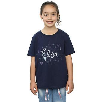 Disney Girls Frozen 2 Elsa Snowflake T-paita