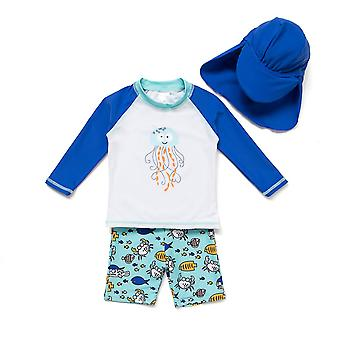 Bonverano Little Boys UPF 50+ Sun Protection Long Sleeves Ensembles de combinaisons solaires