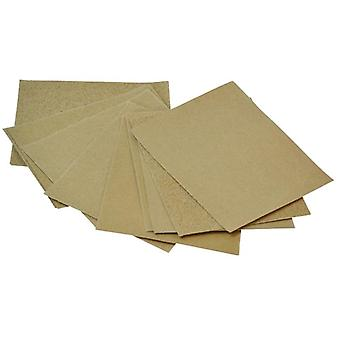 Faithfull Kork Block Glaspapier Schleifblätter sortiert (Pack 10)