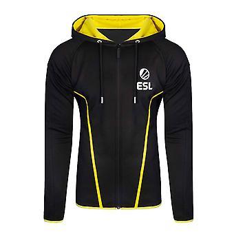 ESL Hoodie TEQ Logo new Official Mens Black Zipped