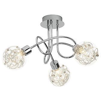 BRILLIANT Lamp Joya Plafondlamp 3flg chroom   3x QT14, G9, 33W, geschikt voor penaansluitingen (niet inbegrepen)   Schaal