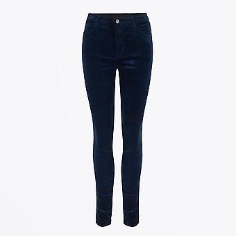 J Brand  - Maria High Rise Skinny Velvet Jeans - Night Out