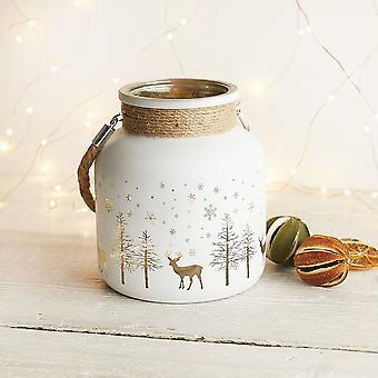 חג המולד סצינה נר תה אור מחזיק 14cm