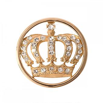 Nikki Lissoni Royal Crown Small Gold Plated Coin C1038GS