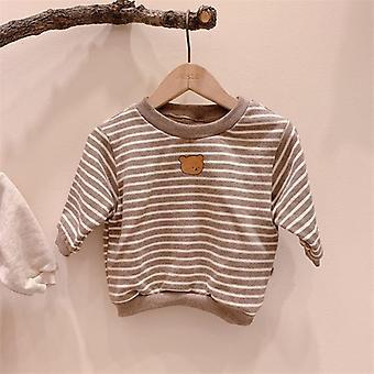 الخريف حديثي الولادة ملابس تحمل طباعة سترة القطن طويلة الأكمام قمم لطيف
