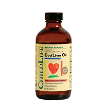 Child Life Essentials Cod Liver Oil, STRAWBERRY, 8 OZ