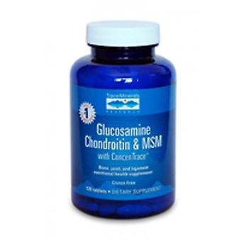 Trace Minerals Glucosamine/Chondroitin/MSM, 120 Tabs