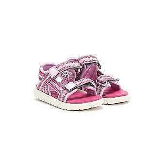 Timberland Perkins Row Chinga 2-Curea Toddlers Sandale roz