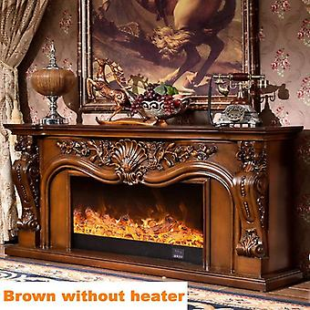 W160cm Fireplace Set Chimney Piece, Wooden Mantel With Electric Fireplace,