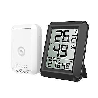 Wireless Indoor and Outdoor Temperature and Humidity Meter (without Battery)