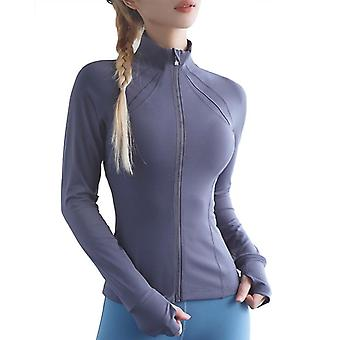 Tight Yoga Clothes, Women's Neck Zipper - Autumn And Winter Sports Fitness