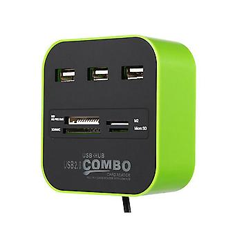 Multi all in 1 SD card reader 3 USB ports hub MMC/M2/MS